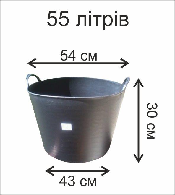 Черные корзины 55л