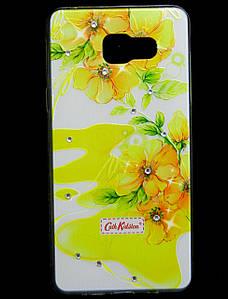 Чехол накладка для Samsung Galaxy A5 2016 SM-A510F силиконовый Diamond Cath Kidston, Sun Flowers