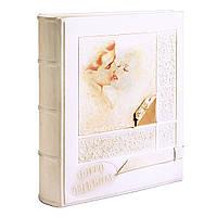Белый свадебный фотоальбом в коже