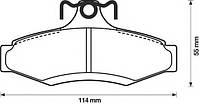 LPR 05P694 = 181261 = RH 2646.10 Тормозные колодки