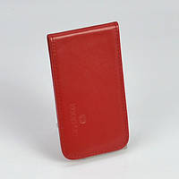 Кардхолдер держатель карт, визиток кожаный красный Keep Up