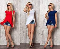 Летняя женская блуза-асимметрия №368 (р.42-52)