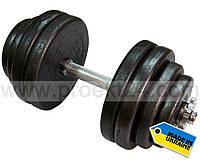 Гантель наборная стальная 1шт 31,5 кг