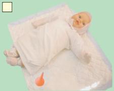 Одноразовый набор одежды для новорожденного №1 стерильный
