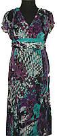 Женское  шифоновое платье ,юбка с клиньями  6105 сирень