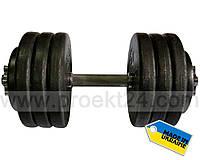 Гантель наборная стальная 1шт 36 кг