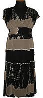Женское  шифоновое платье ,юбка с клиньями  6105 кофе