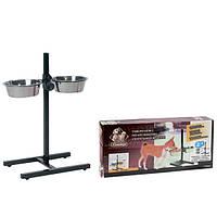 Karlie-Flamingo (Карли-Фламинго) H-FRAME WITH DISHES две металлические миски для собак на штативе