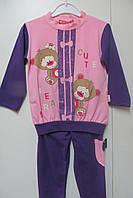 Трикотажный костюм для девочки 2-3 года