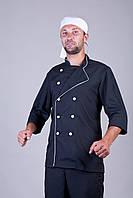 Спец одежда костюм шеф повара черный (шатны+китель)