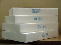 Пенополистерол (пенопласт) EPS-50 (ПСБ-С 25), 100 мм (в кубе 10 листов 1,0 м*0,5м