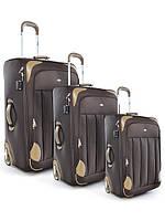 """Комплект чемоданов бизнес класса фирмы """"CCS"""" crimson 3в1 на 2-х колесах"""
