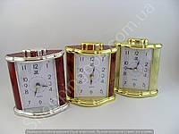 Настольные часы будильник Pearl 114164 прямоугольник подсветка арабские цифры шаговый ход разные цвета