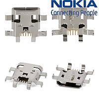 Коннектор зарядки для Nokia Lumia 510, оригинал