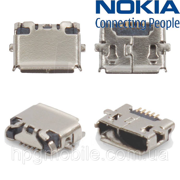 Коннектор зарядки для Nokia E7-00, 5 pin, micro-USB, оригинал