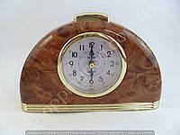 Настольные часы будильник Pearl PR1 полукруглые с подсветкой арабские цифры шаговый ход