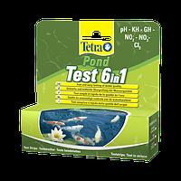 Tetra Pond Test 6in1 Набор полосок - тестов для быстрой и надежной проверки показателей качества воды