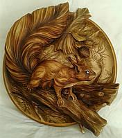 Резная Декоративная тарелка БЕЛКА