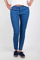 Легкие узкие брюки из хлопка Т/синий