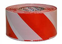 Лента сигнальная 500м красно-белая