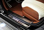 Накладки на дверные пороги c подсветкой Brabus на Mercedes S-Class W222 , фото 5