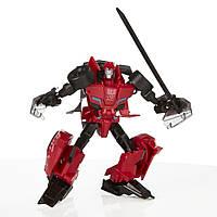 "Транформер Hasbro 10 движений Sideswipe  "" Робот под прикрытием"" 6+"
