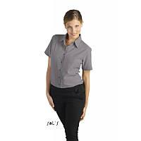 Рубашка женская «оксфорд» с коротким рукавом Sols ELITE, цвета в ассортименте, фото 1