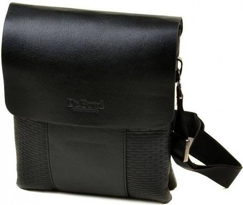 Элегантная мужская сумка-планшет из искусственной кожи dr.Bond 88323-4 black, черный