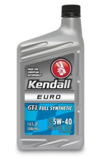 Моторное масло KENDALL EURO GT-1 FULL SYNTHETIC 5w40 1L
