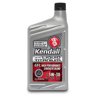 Моторное масло Kendall GT-1 High Performance 5w-30 Synthetic Blend Liquid Titanium 1L