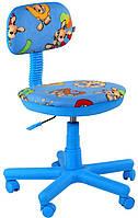 Кресло детское Свити Микровелюр  голубые, зайцы  АМФ, фото 1