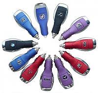 Автомобильное зарядное устройство USB Chery с универсальным переходником-рулеткой (6101/К750/D880/iPhone/mini/micro) 5 V 1 A