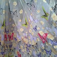 Тюль для  детской  комнаты  бабочки 1