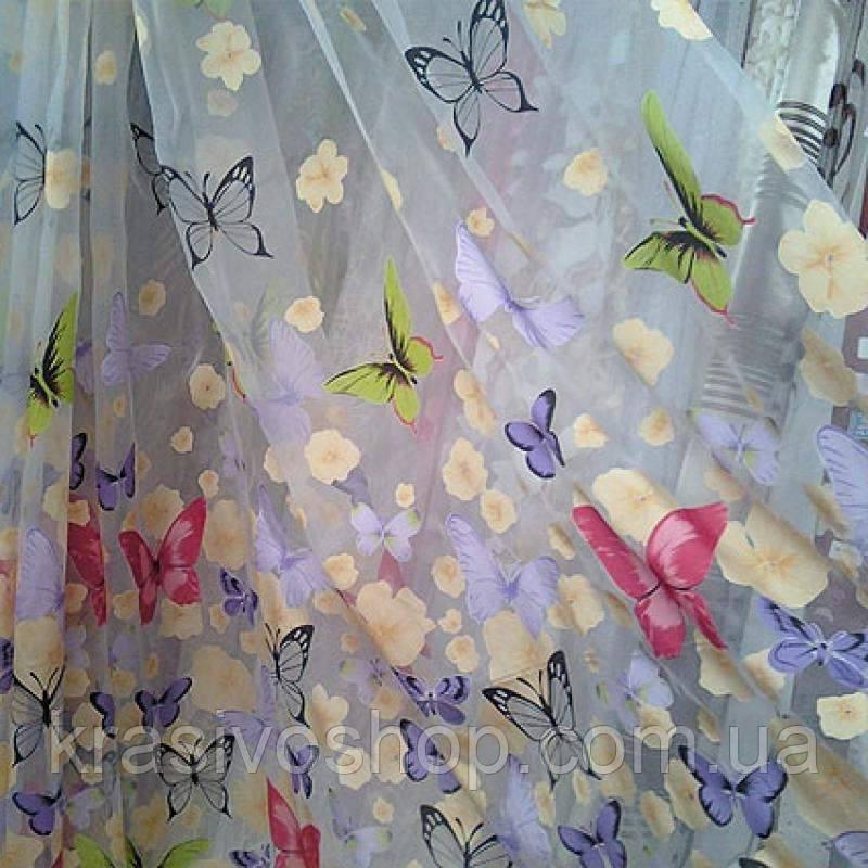 Тюль для  детской  комнаты  бабочки 1 - КРАСОТА И УЮТ в Одессе