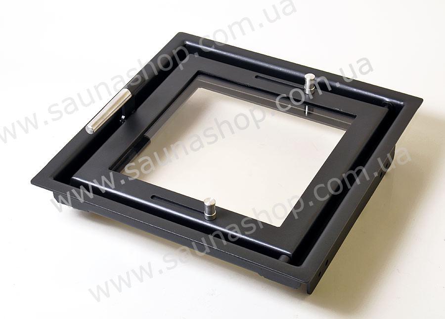 Стеклянные дверцы для печи, камина Valte Vision 450х450мм.