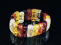 Браслет из янтарной смолы , разноцветный, фигура