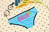 Трусики/Слипы Love Pink Victoria's Secret, голубые