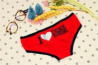 Трусики/Слипы Love Pink Victoria's Secret, красные, фото 1