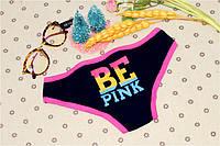 Трусики/Слипы Love Pink Victoria's Secret, черные, фото 1