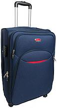 Тканевый большой 4-колесный чемодан 80 л. Suitcase 013755-blue синий