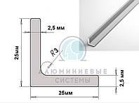 Уголок равнополочный алюминиевый ПАС-0594 25х25х2,5 / б.п.