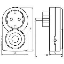 Розетка с таймером механическая суточная Feron TM50, фото 3
