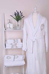 Банный халат Gül Güler Roset White (размер S/M/L и XL/XXL)