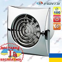 Вентилятор хромированный ВЕНТС 100 Квайт хром (VENTS 100 Quiet chrome), фото 1