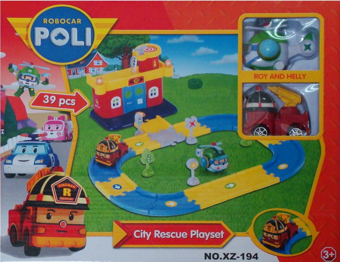 Гараж Poli Robocar пожарная станция