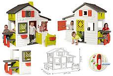 Большой детский дом с чердаком и звонком Friends House Smoby 310209, фото 3