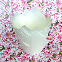 Капсула для кексов (тюльпан белый) (10 шт.)