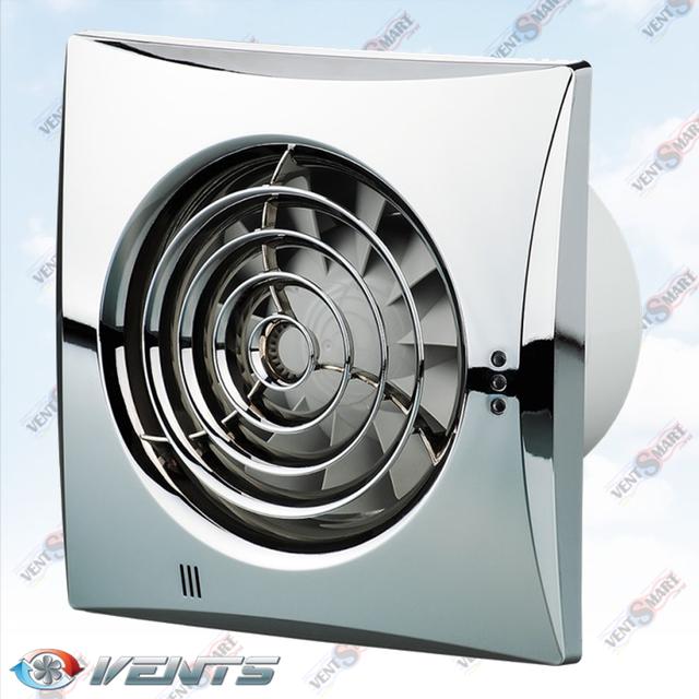 VENTS QUIET 100 chrome ― внешний вид (фото, изображение) хромированного вентилятора для ванной