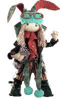 Текстильная каркасная кукла Заяц папа К 1032