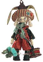 Текстильная каркасная кукла Зайчонок К 1034